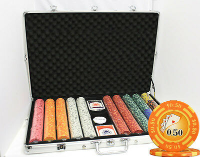 1000 14G LAS VEGAS CASINO CLAY POKER CHIPS SET Y9 NEW