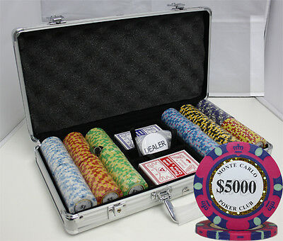 300pcs MONTE CARLO POKER CLUB POKER CHIPS SET