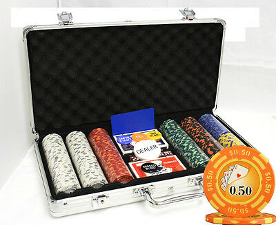 300 14G Yin Yang Casino Clay Poker Chips Set New
