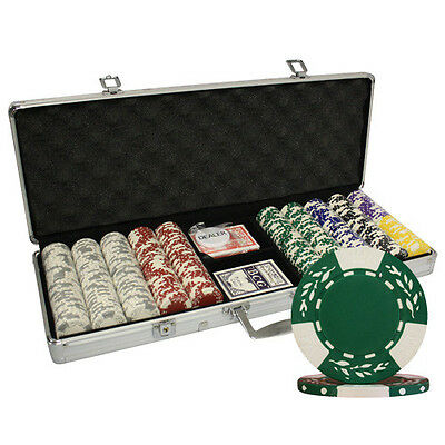 500 12G CLAY WHEAT CASINO POKER CHIPS SET ALUM CASE by MRC