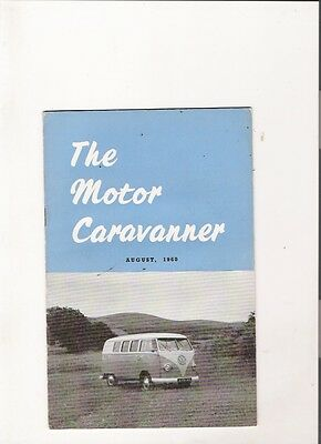 THE MOTOR CARAVANNER MAGAZINE - Third Ever Issue, August 1960 jm