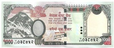 NEPAL 2012 EVEREST Rs 1000 BANKNOTE sign #19 date NOT printed, pick 68a UNC