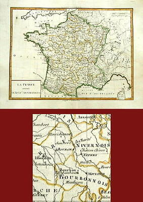 ANTIQUE MAP- FRANCE- Tardieu-1782
