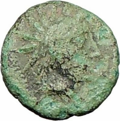 Myrina in Asia Minor 200BC Ancient Greek Coin Helios Sun  God Amphora  i27861