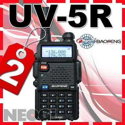2pcs x UV-5R Dual Band DUAL frequency dispaly with FM radio + Earpiece for FREE