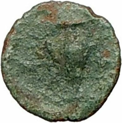MYRINA  Asia Minor  Authentic 200BC Ancient Greek Coin  Athena Amphora  i28117