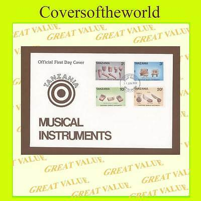 Tanzania 1989 Musical Instruments set on First Day Cover