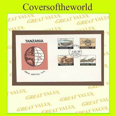 Tanzania 1987 Reptiles set on First Day Cover