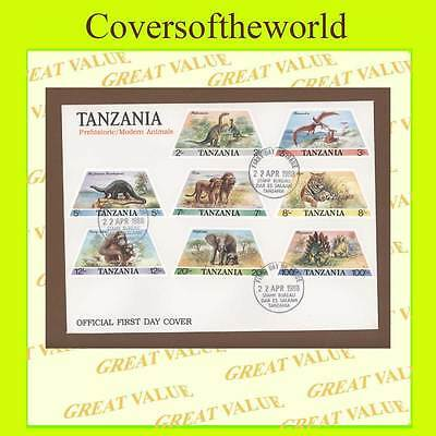 Tanzania 1988 Pre Historic/Modern Animals set on First Day Cover