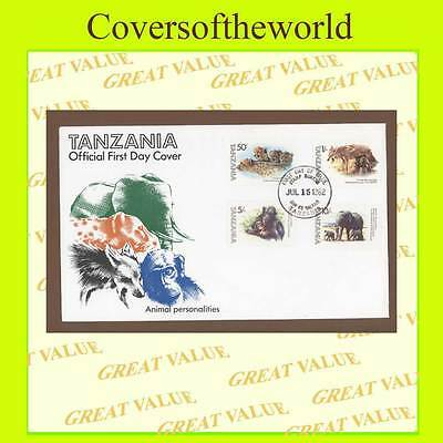 Tanzania 1982 Animals set on First Day Cover