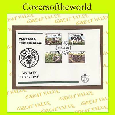 Tanzania 1982 World Food Day set on First Day Cover