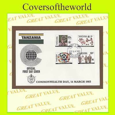 Tanzania 1983 Commonwealth Day set on First Day Cover