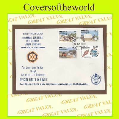 Tanzania 1980 Rotary International set on 55th Conference cover