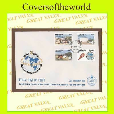 Tanzania 1980 Rotary International set on First Day Cover