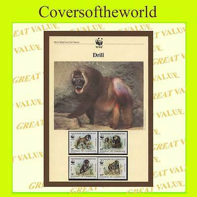 Cameroons 1988  W.W.F. Animals set mint never hinged