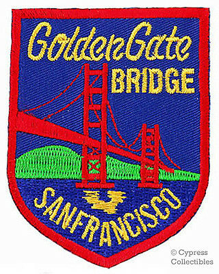 GOLDEN GATE BRIDGE embroidered patch SAN FRANCISCO SOUVENIR IRON-ON APPLIQUE