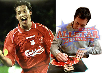 "ROBBIE FOWLER SIGNED LIVERPOOL UEFA CUP FINAL 16""x12"" FOOTBALL PHOTOGRAPH PROOF"