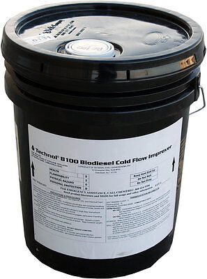5 gallon Pail of Technol B100 Biodiesel Cold Flow Improver Anti-Gel Additive