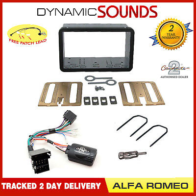 Double Din Car Stereo Fascia Fitting Kit Stalk Steering For Alfa Romeo 159 Brera
