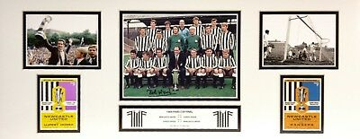 BOBBY MONCUR SIGNED 30x12 NEWCASTLE UNITED  FAIRS CUP FOOTBALL PHOTO PROOF & COA