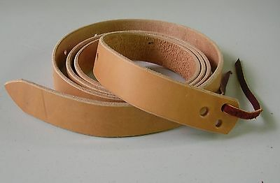 7.5 to 8 foot Amish Made Latigo Genuine Leather Cinch Strap NATURAL LIGHT OIL