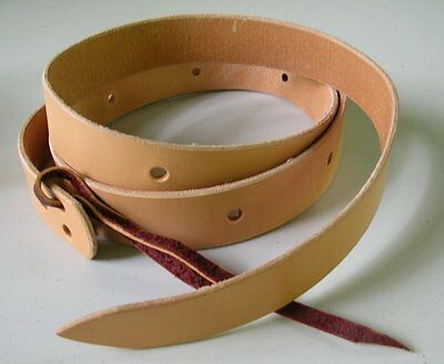 Amish Made 6 foot Western Saddle Cinch Straps Genuine Leather NATURAL/ LIGHT OIL