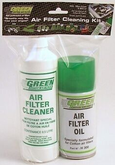 Green Cotton Car, Van & Truck Air Filters Cleaning Fluid Service Kit