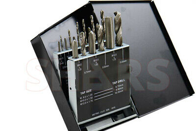 SHARS 18pcs Metric HSS Tap & Drill Set NEW
