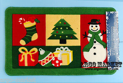 """Nourison Holiday Christmas Non Slip Accent Rug Floor Mat 18"""" x 30"""" Green New"""