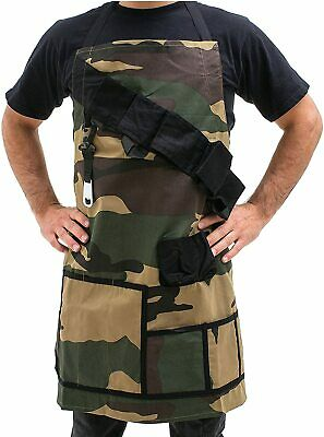 LARGE FUNNY BBQ APRON - camouflage Barbeque beer holster