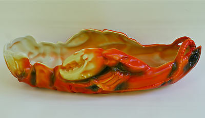 "ROYAL BAYREUTH LOBSTER 10 1/2"" CELERY SERVING  BOWL 10"" LONG BY 5"" WIDE"