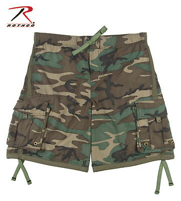 Mens US Military USMC Army Marines Woodland Camo Swim Swimming Trunks Shorts
