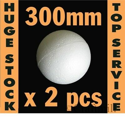 Polystyrene Ball in 2 HOLLOW HALVES: 2 balls x 300mm