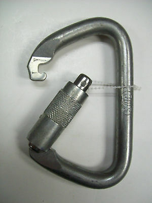"*NEW*SMC Large Steel Carabiner #21501 3 Stage ""Twist/Lock""  ""Safety Lock"""