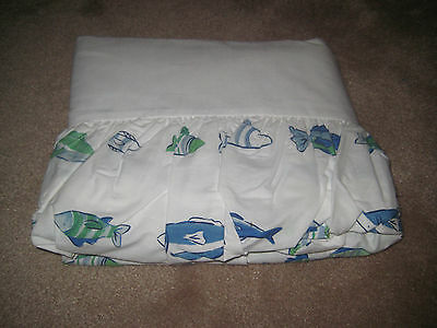 NEW Pottery Barn Kids FISH Twin Bedskirt