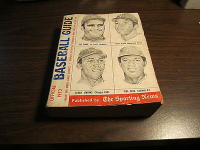 1972  Sporting News Baseball Guide    608 Pages