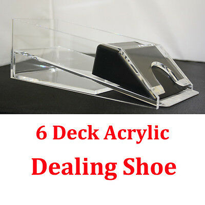 1-6 Decks Blackjack Dealing Shoe Real Acrylic Material