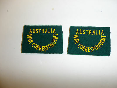 c0049 WW 2 Civilian Australia War Correspondent Shoulder slip on pair R10B
