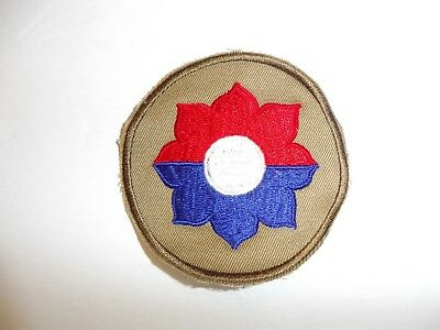 b0694 US Army 1930's early WW 2  patch  9th Infantry Division Khaki