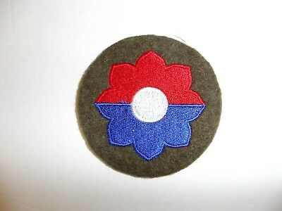 b0696 US Army 1930's early WW 2  patch  9th Infantry Division wool