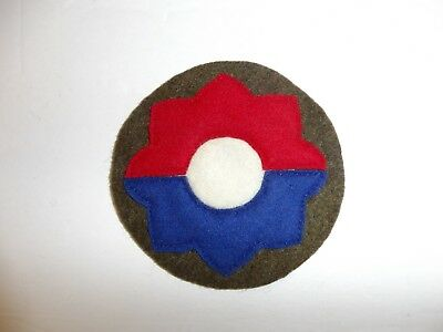 b0697 US Army 1930's early WW 2  patch  9th Infantry Division