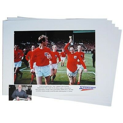 Ray Wilson – England 1996 - 5 Signed prints: Wholesale offer