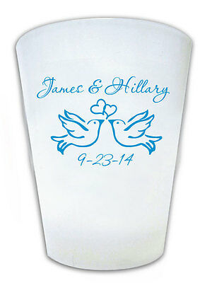 200 PERSONALIZED Dove Theme Wedding FAVOR Shot Glasses Custom Wedding Logo