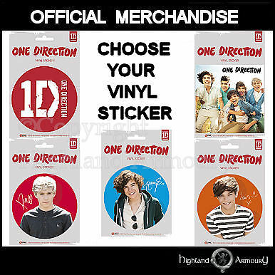 One Direction Vinyl Sticker - Choose your Design - Official 1D Harry Styles New