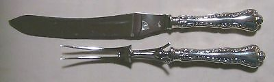 LOUIS XV 1914 LARGE CARVING SET KNIFE & FORK by BIRKS STERLING