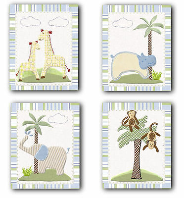 Jungle Friends Safari Animals neutral WALL ART FOR NURSERY decor for baby's room