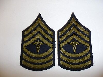 b0726p 1930's-WW2 US Army unofficial Medical Master Sergeant pair R1D