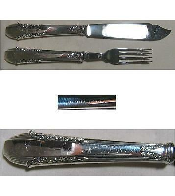 Enchantress 1937 Fish Knife & Fork Set Hollow Handle By International Sterling
