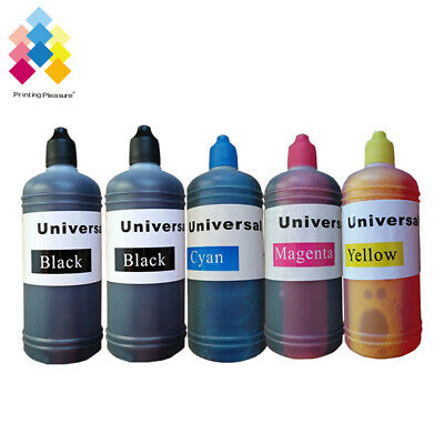 5x 100ml Universal Printer Refill Ink Bottles for CISS or Refillable Cartridges
