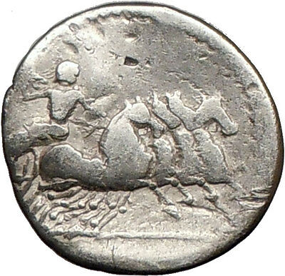 Roman Republic Anonymous APOLLO JUPITER Horse Silver Coin 86BC  i16038